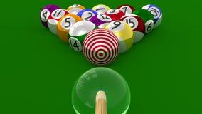Бассейн ЦЕЛИ - шарик 8 сфокусированный как конечная цель иллюстрация вектора