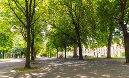 Бастионы парк, Женева, Швейцария Стоковые Фото