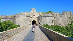 Бастион замка Родоса стоковое фото rf