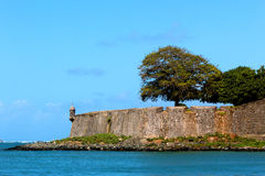Бастион Сан AgustÃn, старый Сан-Хуан Стоковое Изображение RF