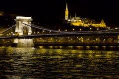 Бастион цепного моста и рыболовов Стоковые Фотографии RF