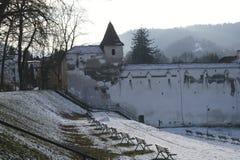 Бастион Bastionul Tesatorilor Румыния ткачей, Brasov Стоковая Фотография