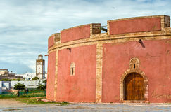 Бастион Borj Bab Marrakech в Essaouira, Марокко стоковые изображения rf