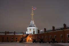 Бастион Naryshkin крепости Питера и Пола стоковая фотография