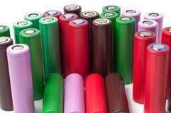 Батареи иона 18650 лития Стоковая Фотография