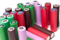 Батареи иона 18650 лития Стоковая Фотография RF