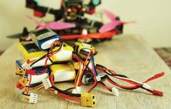 Батареи и трутень полимера лития перезаряжаемые Стоковая Фотография