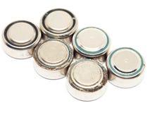 Батареи малого вахты ржавые изолированные на белой предпосылке Стоковое Фото