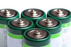 Батареи на белизне Стоковое фото RF
