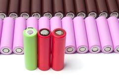Батареи размера иона 18650 лития Стоковая Фотография RF