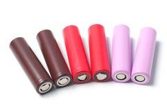 Батареи размера иона 18650 лития Стоковое Изображение RF