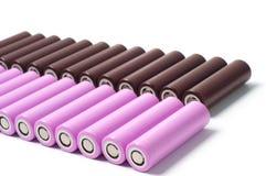 Батареи размера иона 18650 лития Стоковые Фотографии RF