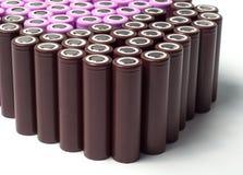Батареи размера иона 18650 лития промышленные Стоковая Фотография