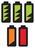 Батареи с различными уровнями обязанности Стоковая Фотография