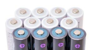 Батареи щелочных аккумуляторов Стоковая Фотография RF