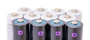 Батареи щелочных аккумуляторов Стоковое фото RF