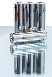Батареи щелочных аккумуляторов LR6 AA Стоковые Изображения