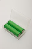 2 батареи для электронных сигарет на белой предпосылке Стоковое фото RF