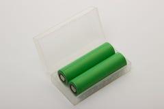 2 батареи для электронных сигарет на белой предпосылке Стоковое Изображение RF