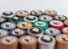 батареи aa много Стоковая Фотография RF