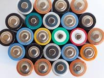 батареи aa много Стоковое Изображение RF