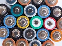 батареи aa много Стоковые Изображения RF