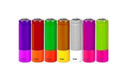 Батарея АА. Коллаж Стоковое Изображение RF