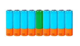 Батарея АА. Коллаж Стоковая Фотография RF