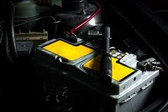Батарея автомобиля внутри автомобиля Стоковое Изображение RF