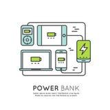 Батарея банка силы Стоковое Изображение