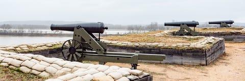Батарея береговой артиллерии на поле брани Donelson форта национальном, Теннесси стоковое фото rf