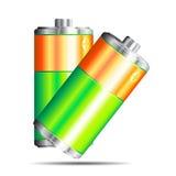 батарея 2 вектор Стоковые Изображения