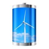 Батарея ветротурбины Стоковое Фото