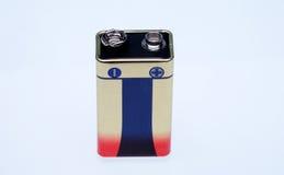 Батарея 9 вольтов Стоковые Фото