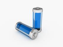 Батарея вполне Стоковое Фото