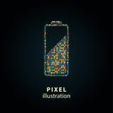 Батарея - иллюстрация пиксела Стоковое Изображение RF