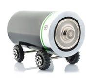 Принципиальная схема электрического автомобиля Стоковое Изображение