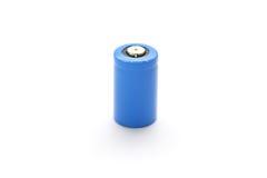 батарея cr2 предпосылки изолировала белизну лития Стоковая Фотография RF