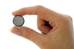 батарея cr2025 минус вахта щипка Стоковое Изображение