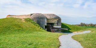 Батарея Mer sur Longues, Нормандия, Франция стоковое фото