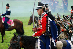 Батальная сцена Нападения кавалерии стоковое фото rf