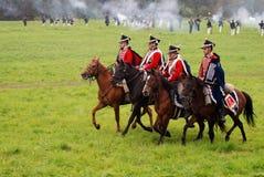 Батальная сцена Нападения кавалерии стоковая фотография