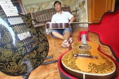 Батик гитары Стоковое Фото