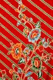 батик, индонезийский саронг батика, ткань батика мотива, картина батика Индонезии Стоковые Изображения RF