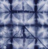 Батик покрашенный материалом. Shibori Стоковая Фотография RF