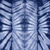 Батик покрашенный материалом Shibori Стоковое Изображение