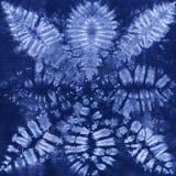 Батик покрашенный материалом Shibori Стоковые Фотографии RF