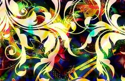 батик флористический Стоковые Фотографии RF