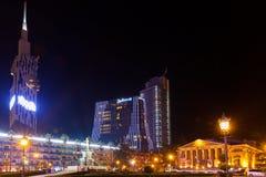 Батуми в ноче Стоковая Фотография RF