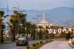 Батуми, Adjara, Georgia Дорога улицы Gogebashvili и морская станция Стоковая Фотография RF